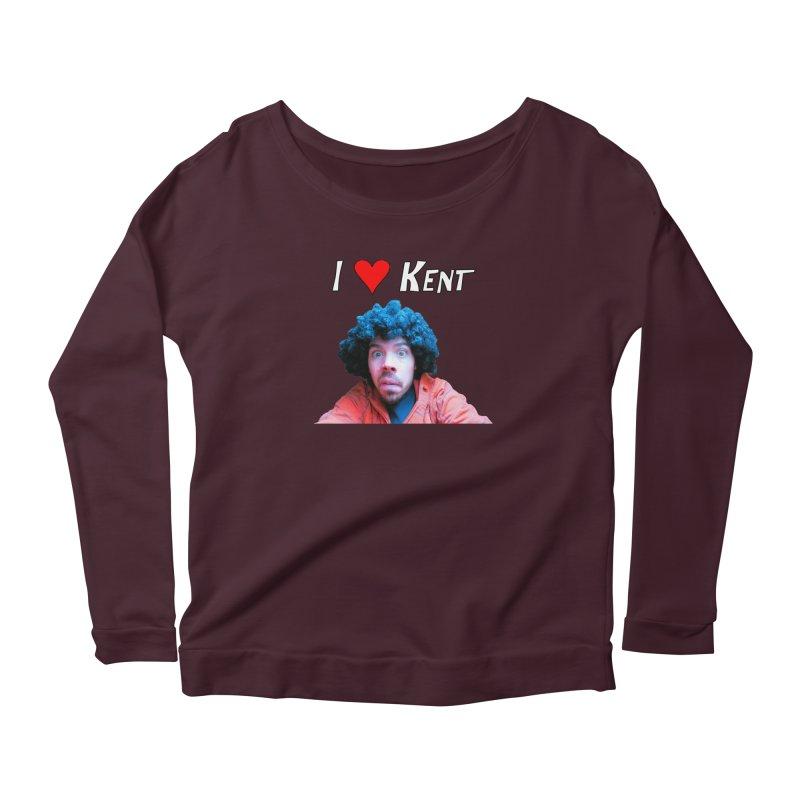 I Love Kent Women's Scoop Neck Longsleeve T-Shirt by Vegetable Police