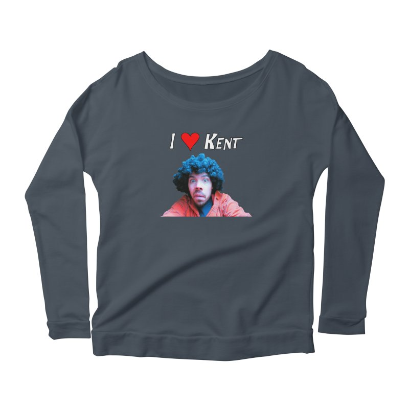 I Love Kent Women's Scoop Neck Longsleeve T-Shirt by Vegetable Police