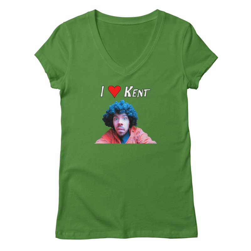 I Love Kent Women's V-Neck by Vegetable Conspiracies