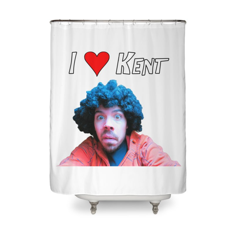 I Love Kent Home Shower Curtain by Vegetable Police