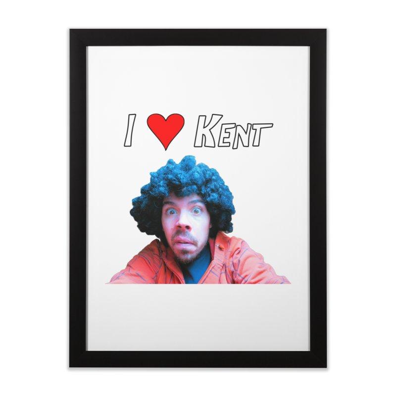 I Love Kent Home Framed Fine Art Print by Vegetable Police