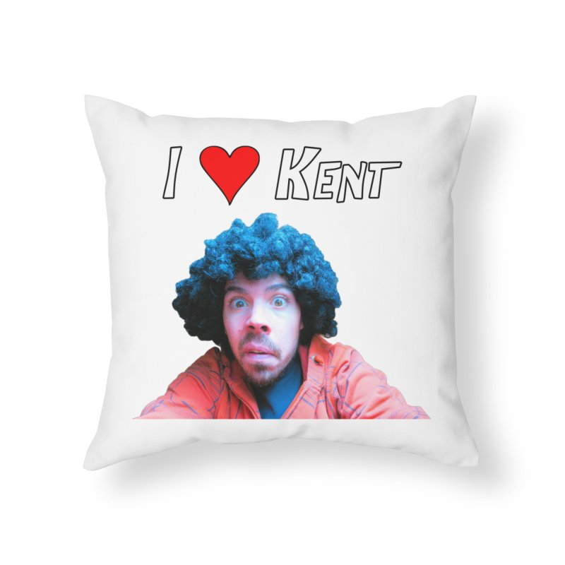 I Love Kent Home Throw Pillow by Vegetable Police