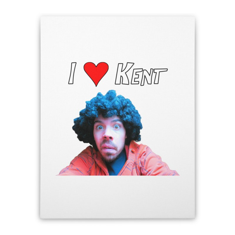I Love Kent Home Stretched Canvas by Vegetable Police