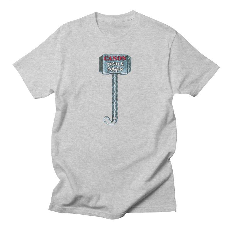 Canon Cripple Hammer Men's T-Shirt by Vegetable Conspiracies