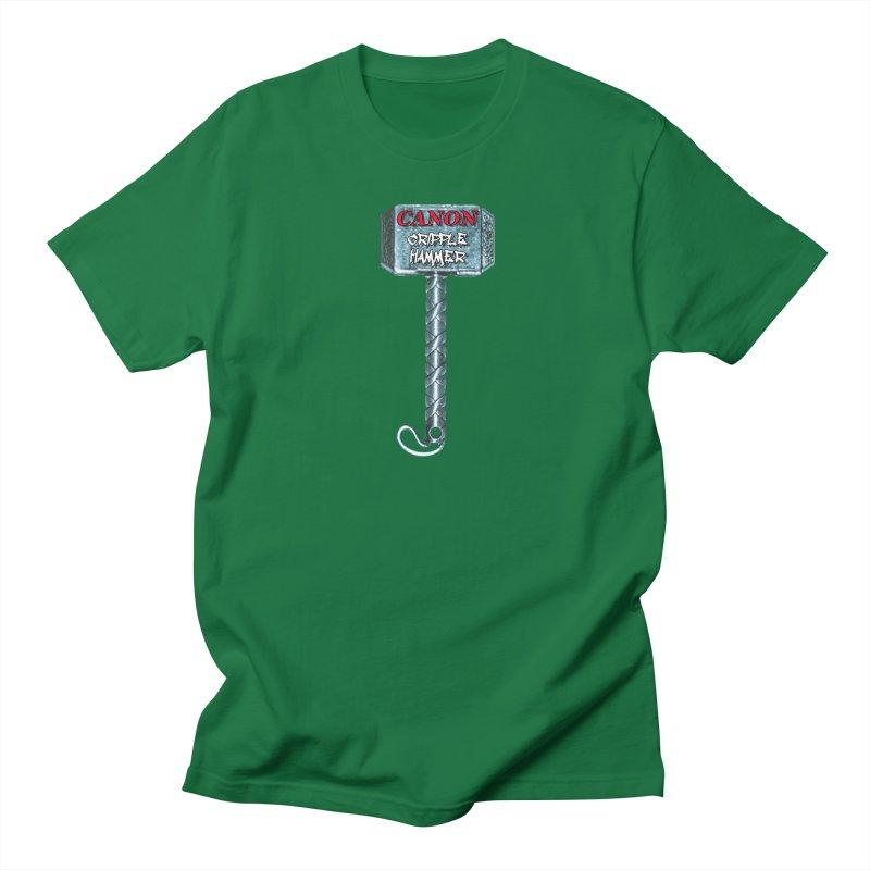 Canon Cripple Hammer Men's Regular T-Shirt by Vegetable Police