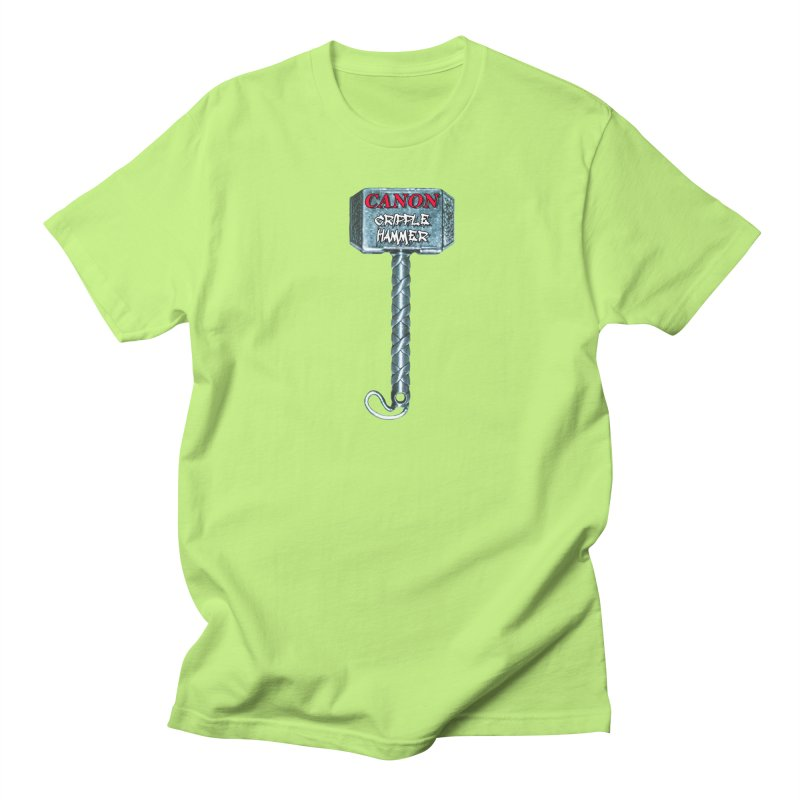 Canon Cripple Hammer Men's T-Shirt by Vegetable Conspiracies