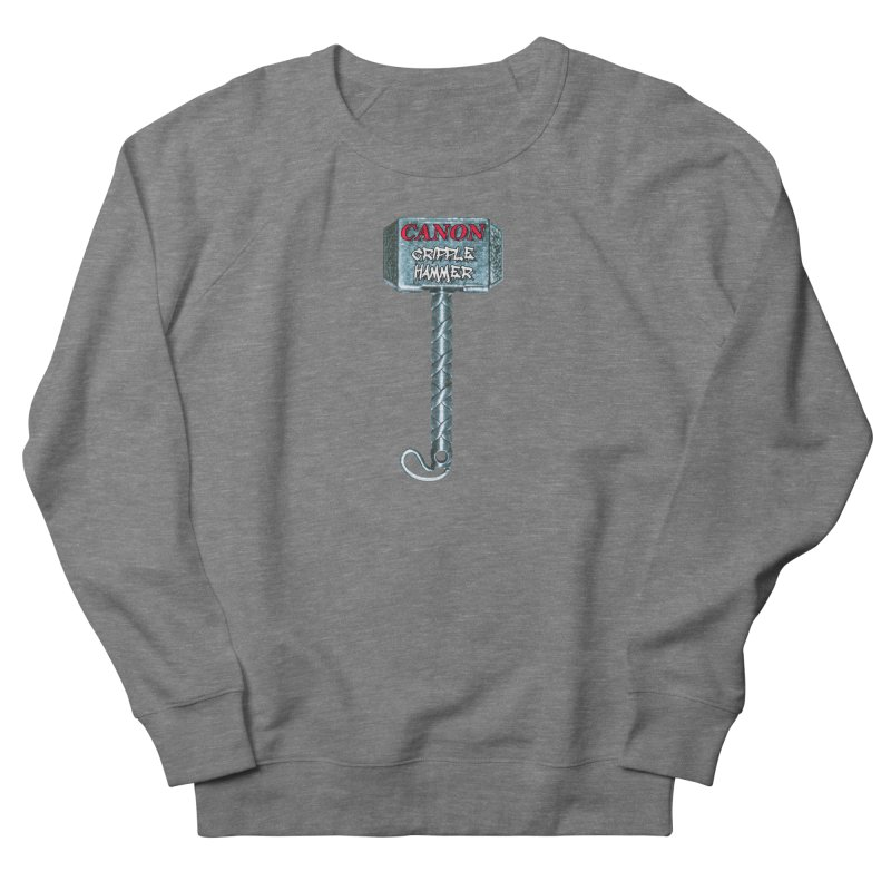 Canon Cripple Hammer Women's French Terry Sweatshirt by Vegetable Police