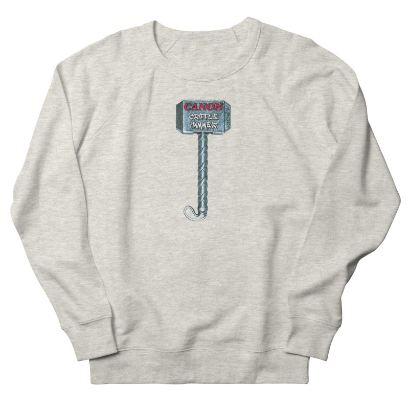 Canon Cripple Hammer Men's French Terry Sweatshirt by Vegetable Police