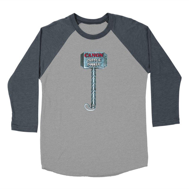 Canon Cripple Hammer Women's Baseball Triblend Longsleeve T-Shirt by Vegetable Police