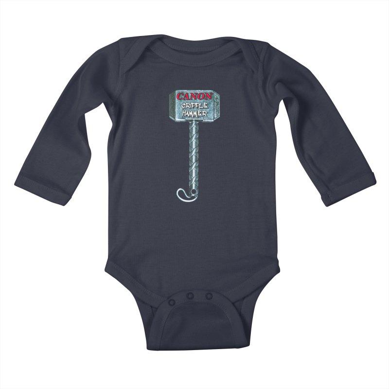 Canon Cripple Hammer Kids Baby Longsleeve Bodysuit by Vegetable Police