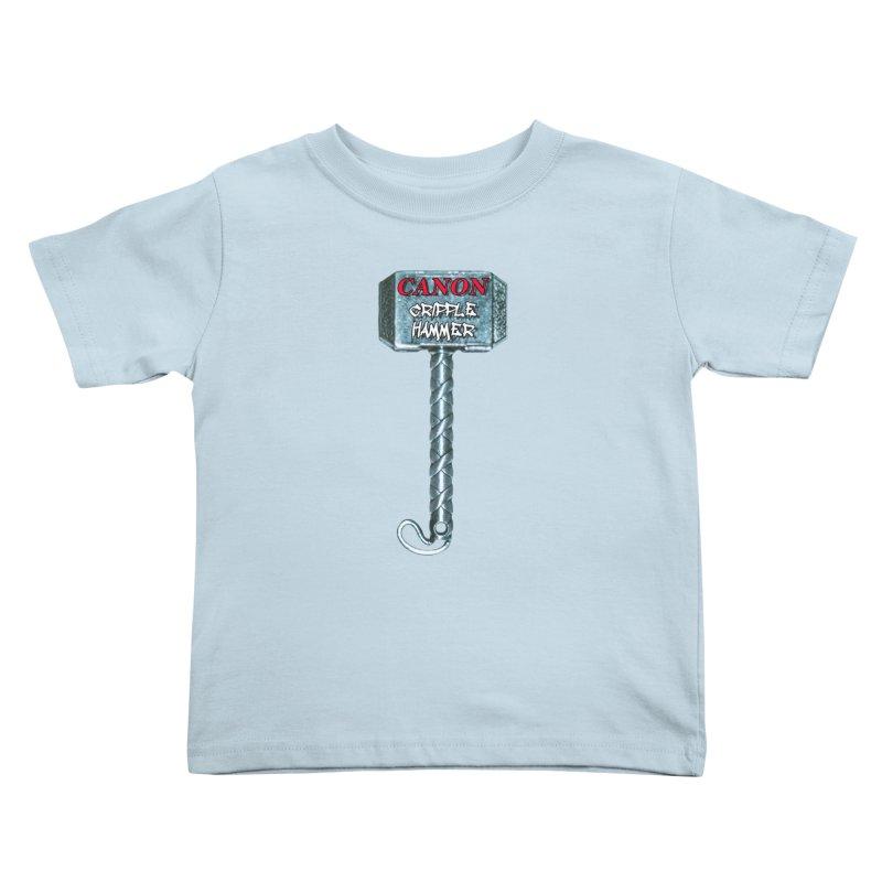 Canon Cripple Hammer Kids Toddler T-Shirt by Vegetable Police