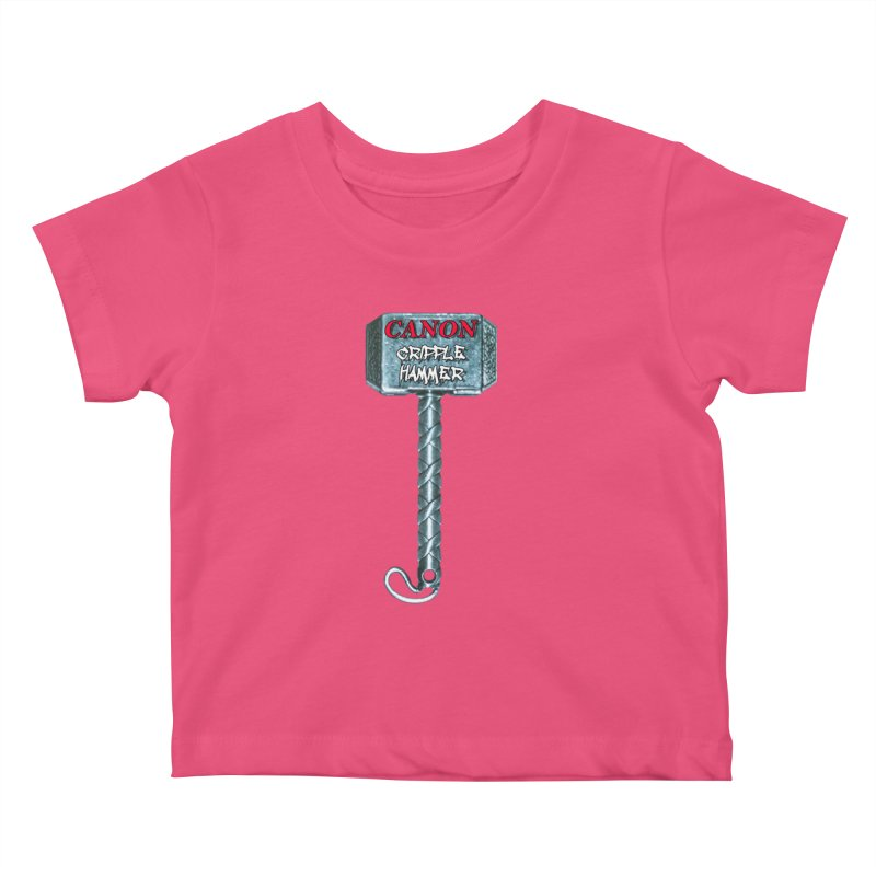 Canon Cripple Hammer Kids Baby T-Shirt by Vegetable Police