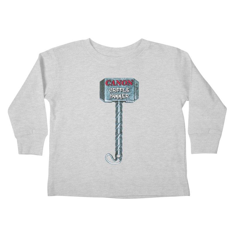 Canon Cripple Hammer Kids Toddler Longsleeve T-Shirt by Vegetable Police