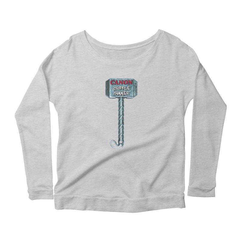 Canon Cripple Hammer Women's Scoop Neck Longsleeve T-Shirt by Vegetable Police