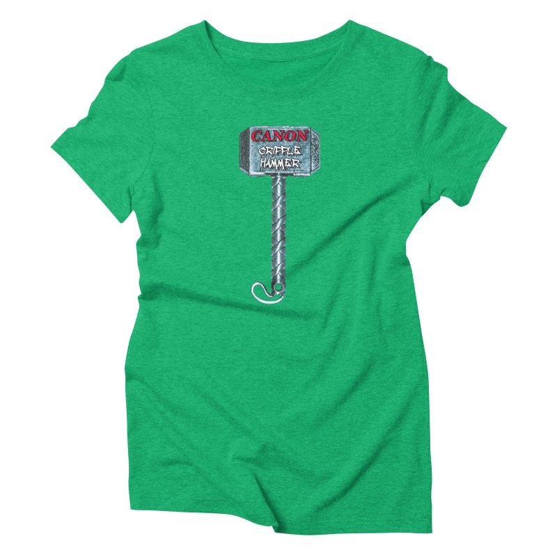 Canon Cripple Hammer Women's Triblend T-Shirt by Vegetable Police