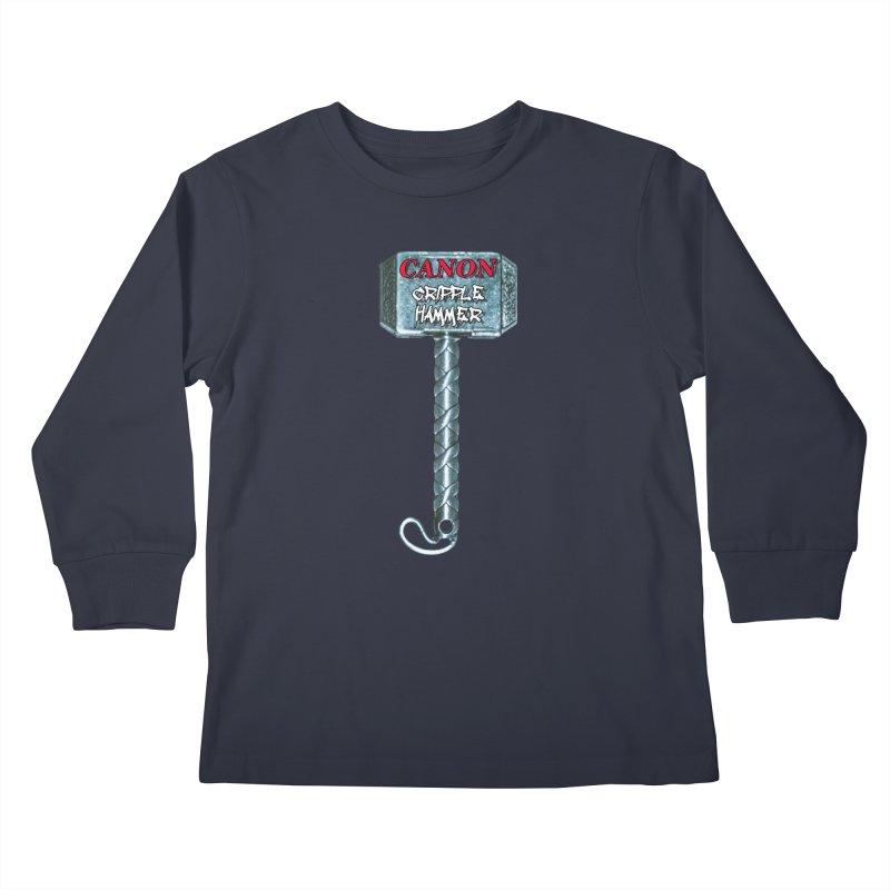 Canon Cripple Hammer Kids Longsleeve T-Shirt by Vegetable Police