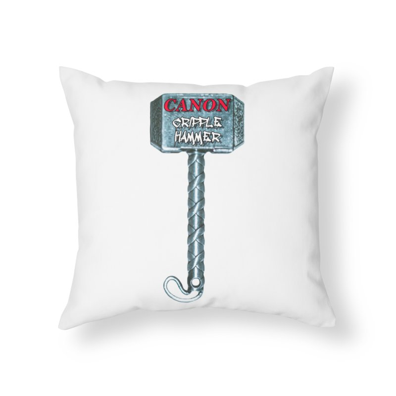 Canon Cripple Hammer Home Throw Pillow by Vegetable Police