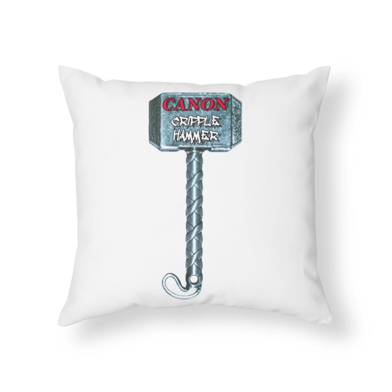 Canon Cripple Hammer Home Throw Pillow by Vegetable Conspiracies
