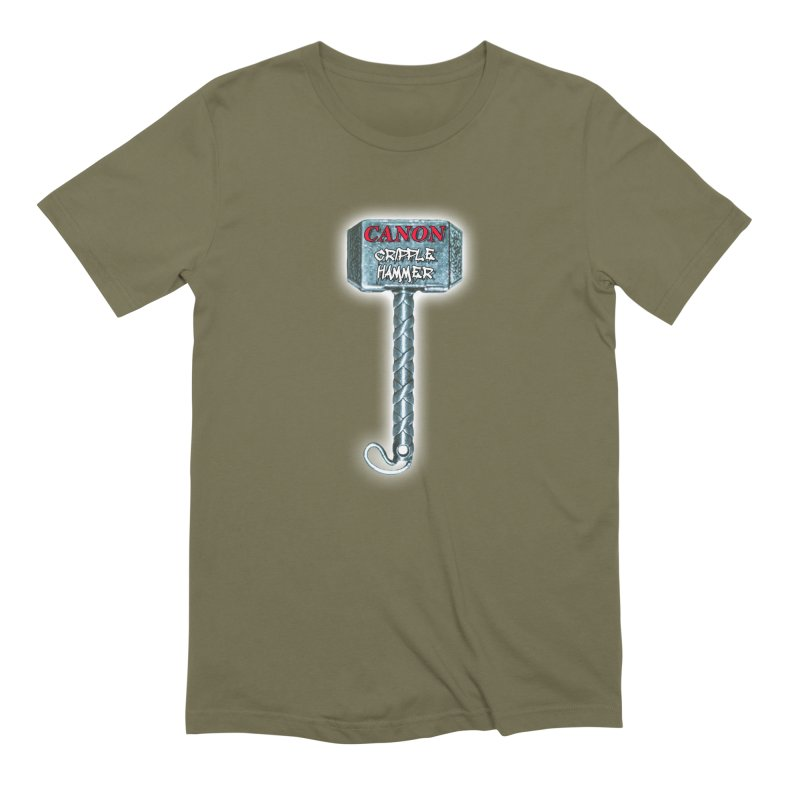 Canon Cripple Hammer (Glowing) Men's Extra Soft T-Shirt by Vegetable Police