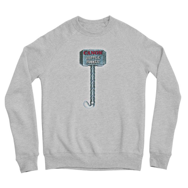 Canon Cripple Hammer (Glowing) Men's Sponge Fleece Sweatshirt by Vegetable Police