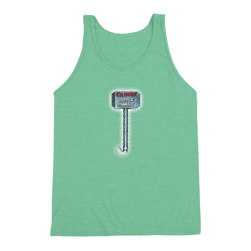 Canon Cripple Hammer (Glowing) Men's Triblend Tank by Vegetable Police