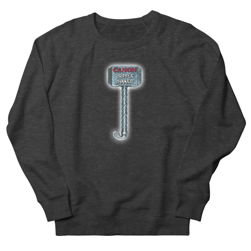 Canon Cripple Hammer (Glowing) Men's French Terry Sweatshirt by Vegetable Police