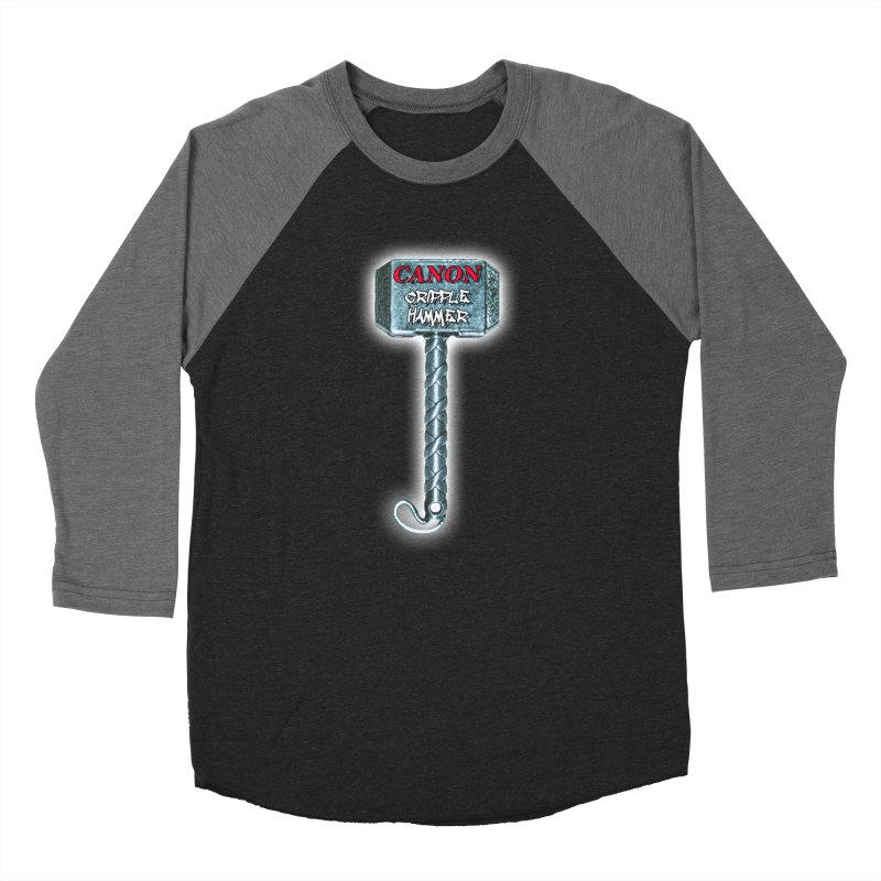 Canon Cripple Hammer (Glowing) Women's Baseball Triblend Longsleeve T-Shirt by Vegetable Police