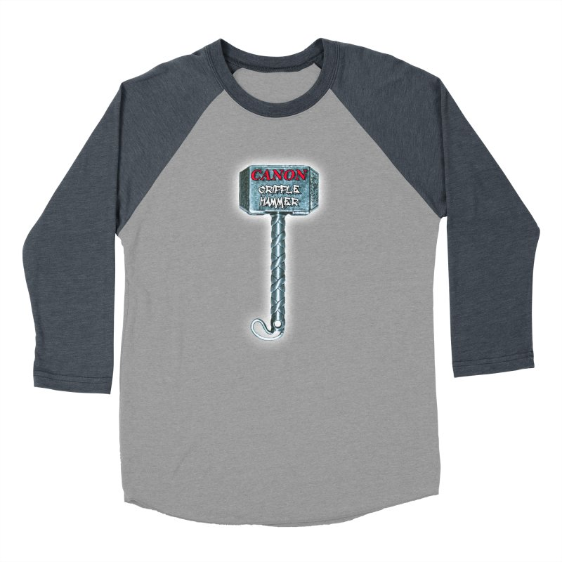 Canon Cripple Hammer (Glowing) Women's Baseball Triblend Longsleeve T-Shirt by Vegetable Police
