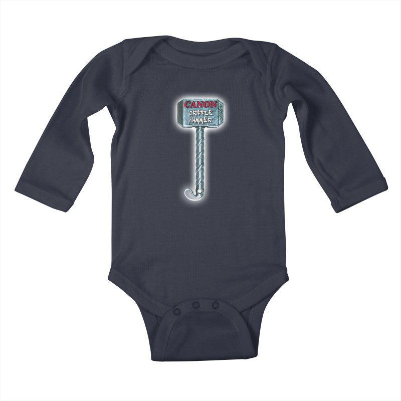 Canon Cripple Hammer (Glowing) Kids Baby Longsleeve Bodysuit by Vegetable Police