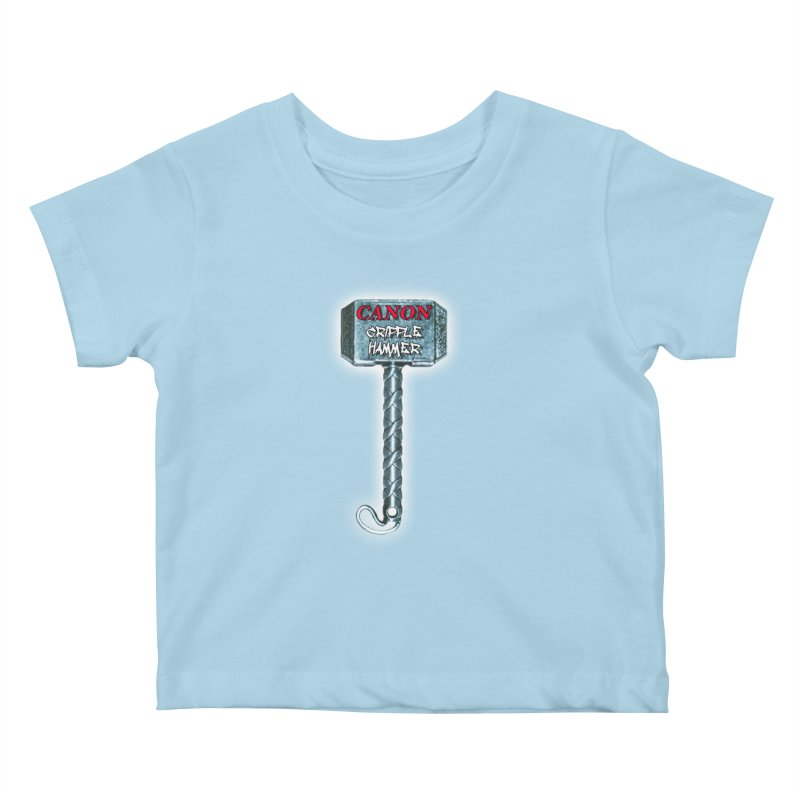 Canon Cripple Hammer (Glowing) Kids Baby T-Shirt by Vegetable Police
