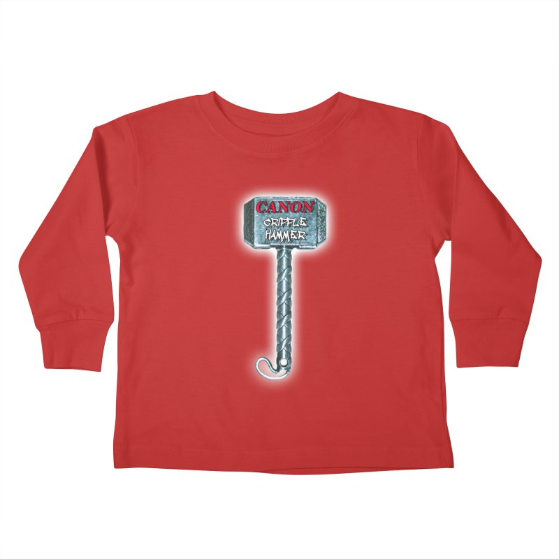 Canon Cripple Hammer (Glowing) Kids Toddler Longsleeve T-Shirt by Vegetable Police