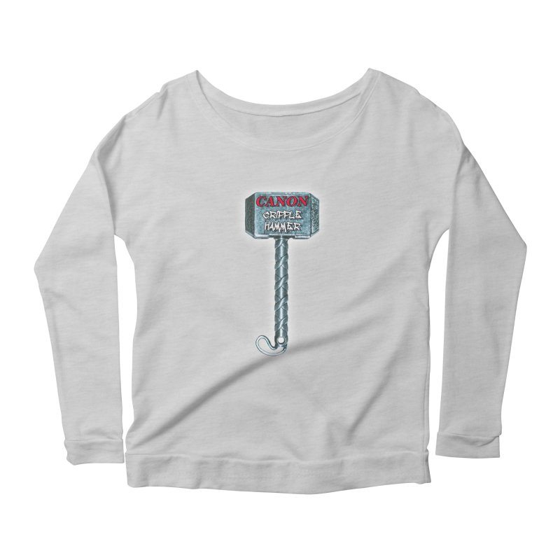 Canon Cripple Hammer (Glowing) Women's Scoop Neck Longsleeve T-Shirt by Vegetable Police