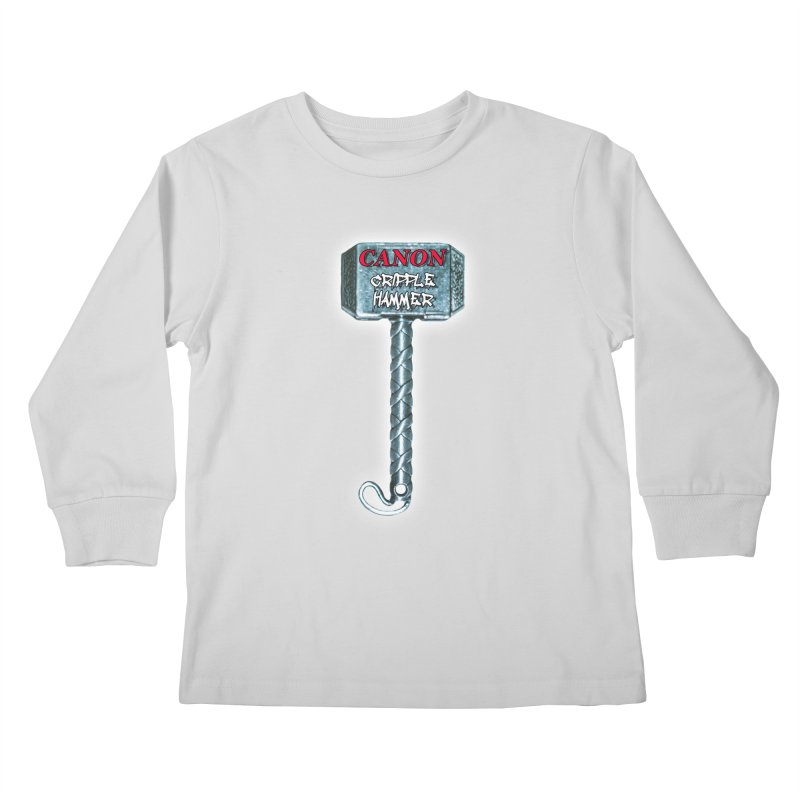 Canon Cripple Hammer (Glowing) Kids Longsleeve T-Shirt by Vegetable Police