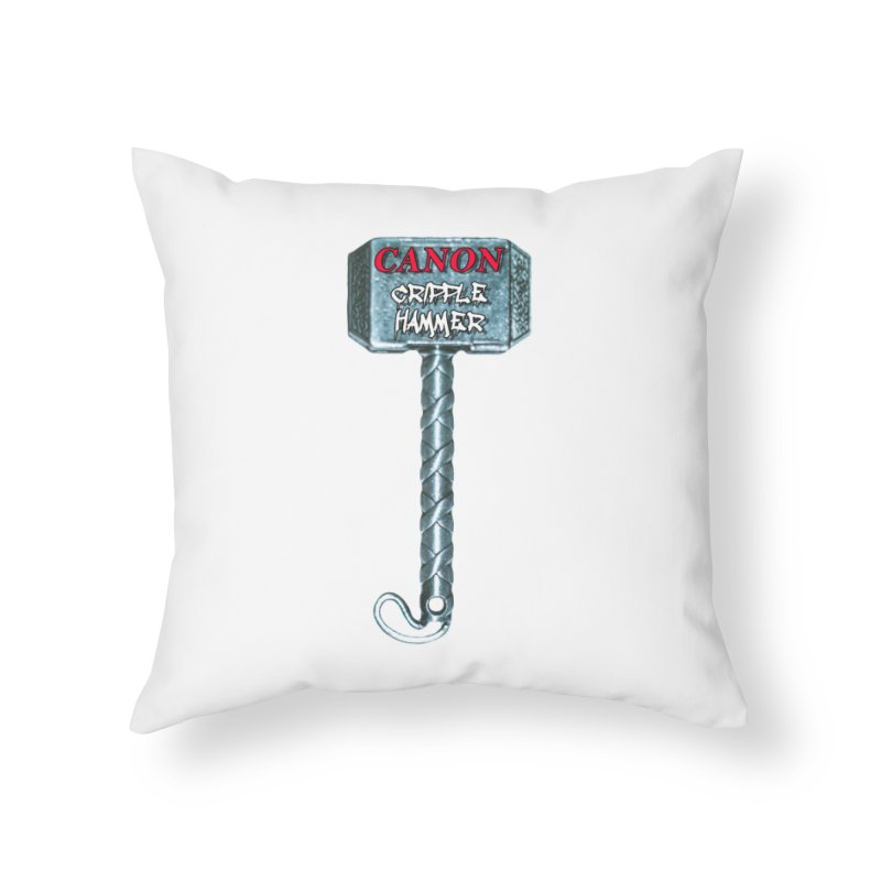 Canon Cripple Hammer (Glowing) Home Throw Pillow by Vegetable Police