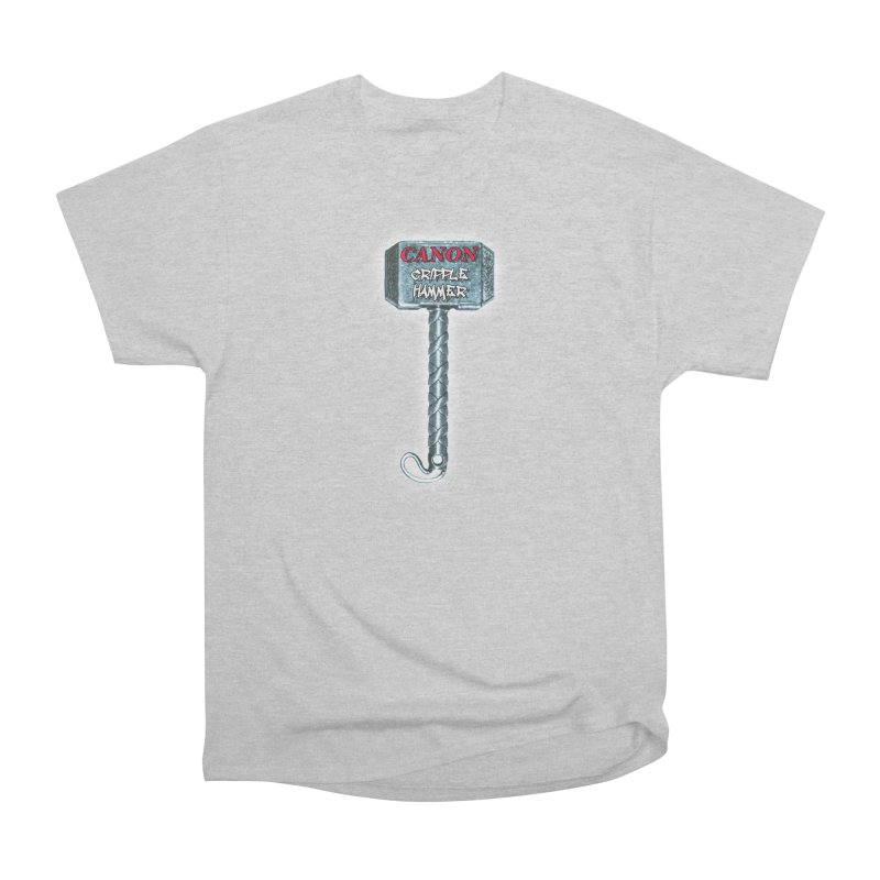 Canon Cripple Hammer (Glowing) Men's T-Shirt by Vegetable Conspiracies