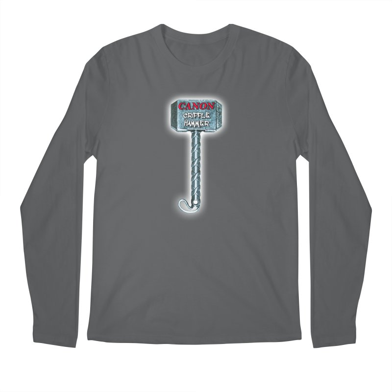 Canon Cripple Hammer (Glowing) Men's Longsleeve T-Shirt by Vegetable Conspiracies