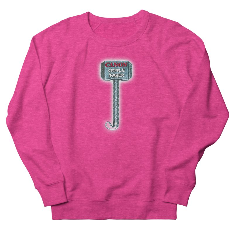Canon Cripple Hammer (Glowing) Women's French Terry Sweatshirt by Vegetable Police