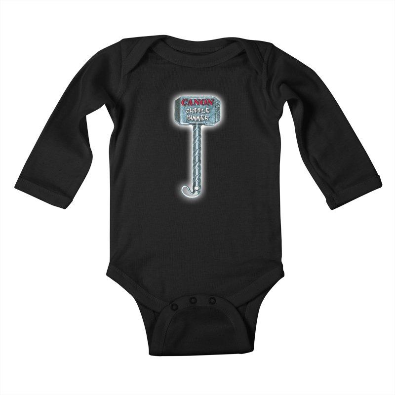 Canon Cripple Hammer (Glowing) Kids Baby Longsleeve Bodysuit by Vegetable Police