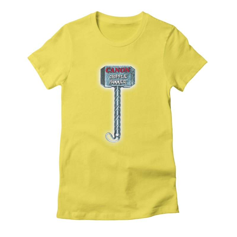 Canon Cripple Hammer (Glowing) Women's T-Shirt by Vegetable Conspiracies