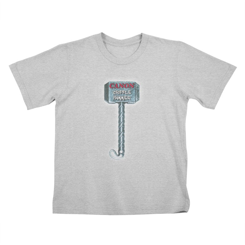 Canon Cripple Hammer (Glowing) Kids T-Shirt by Vegetable Conspiracies