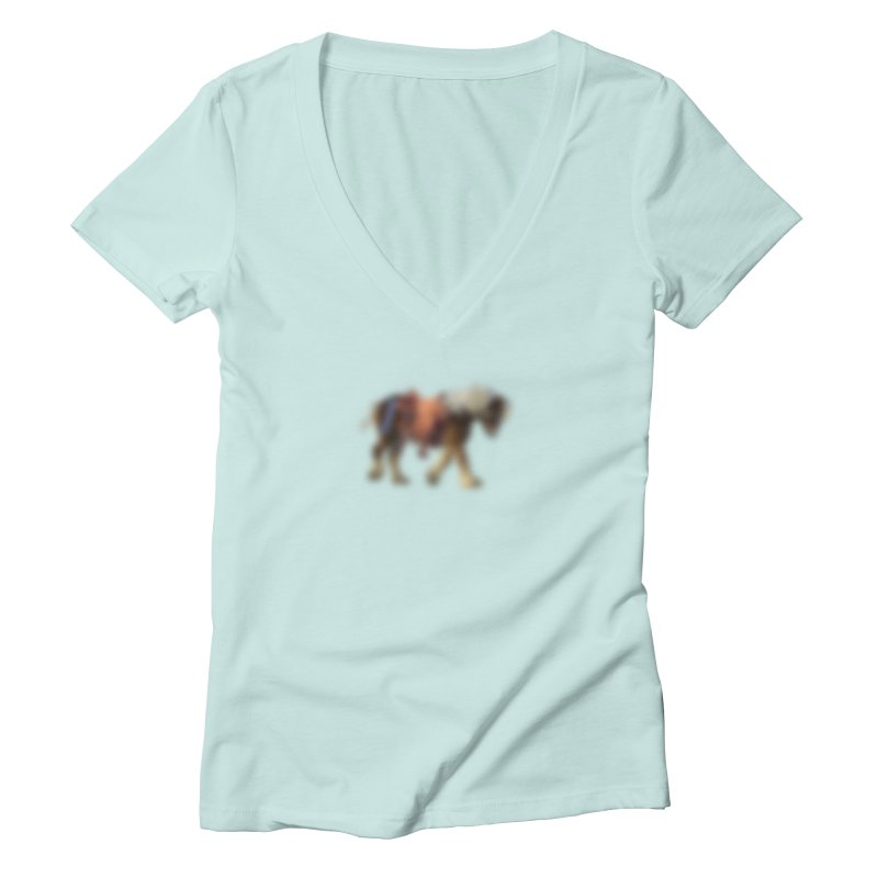 Panasonic Pony of Hope Women's V-Neck by Vegetable Conspiracies