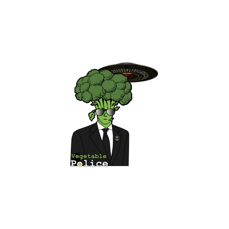 Vegetable Police (Broccoli Cop) Women's V-Neck by Vegetable Conspiracies