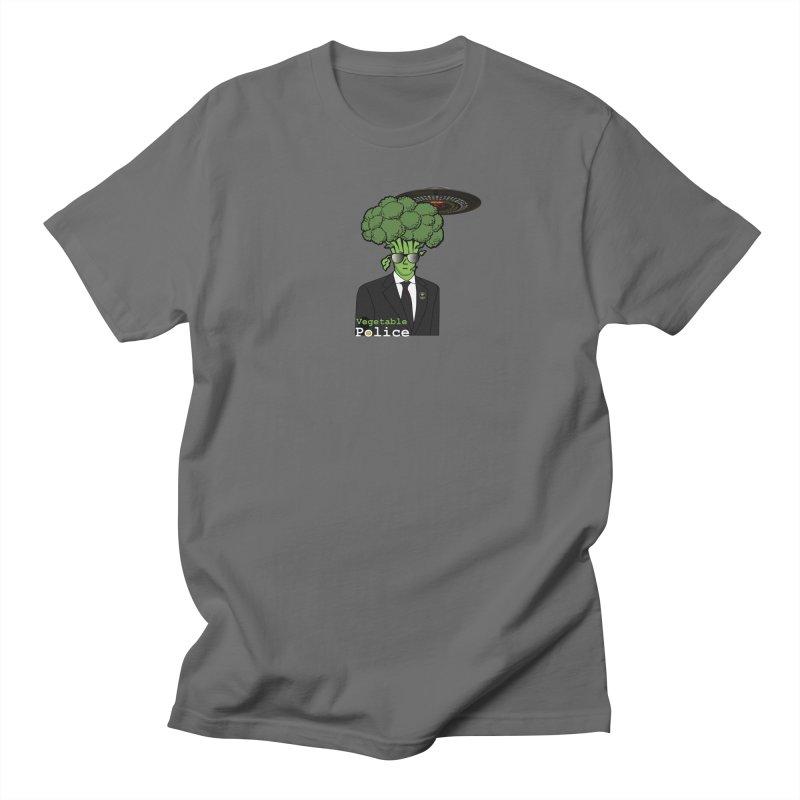Vegetable Police (Broccoli Cop) Men's T-Shirt by Vegetable Conspiracies
