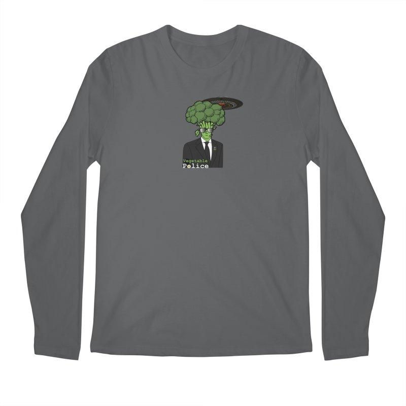 Vegetable Police (Broccoli Cop) Men's Longsleeve T-Shirt by Vegetable Conspiracies