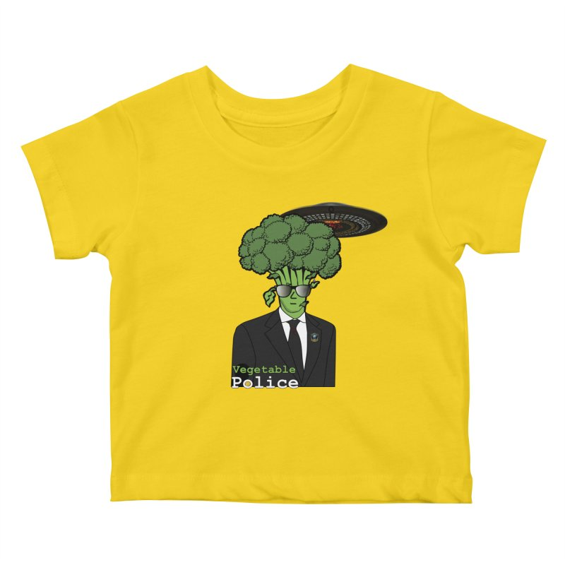 Vegetable Police (Broccoli Cop) Kids Baby T-Shirt by Vegetable Conspiracies