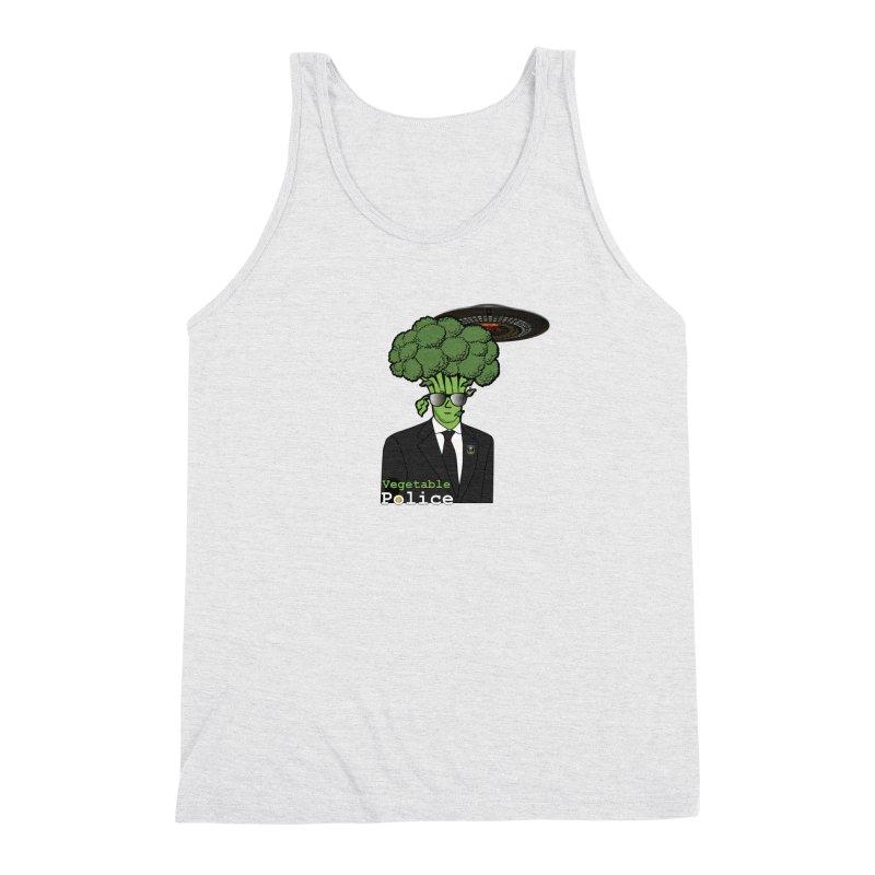 Vegetable Police (Broccoli Cop) Men's Tank by Vegetable Conspiracies