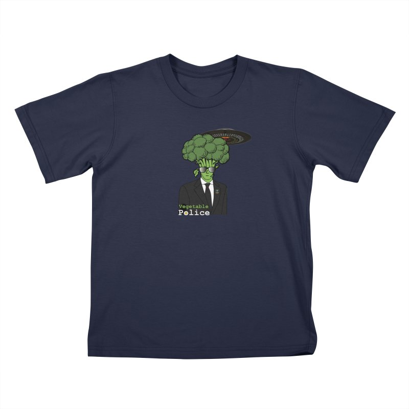 Vegetable Police (Broccoli Cop) Kids T-Shirt by Vegetable Conspiracies