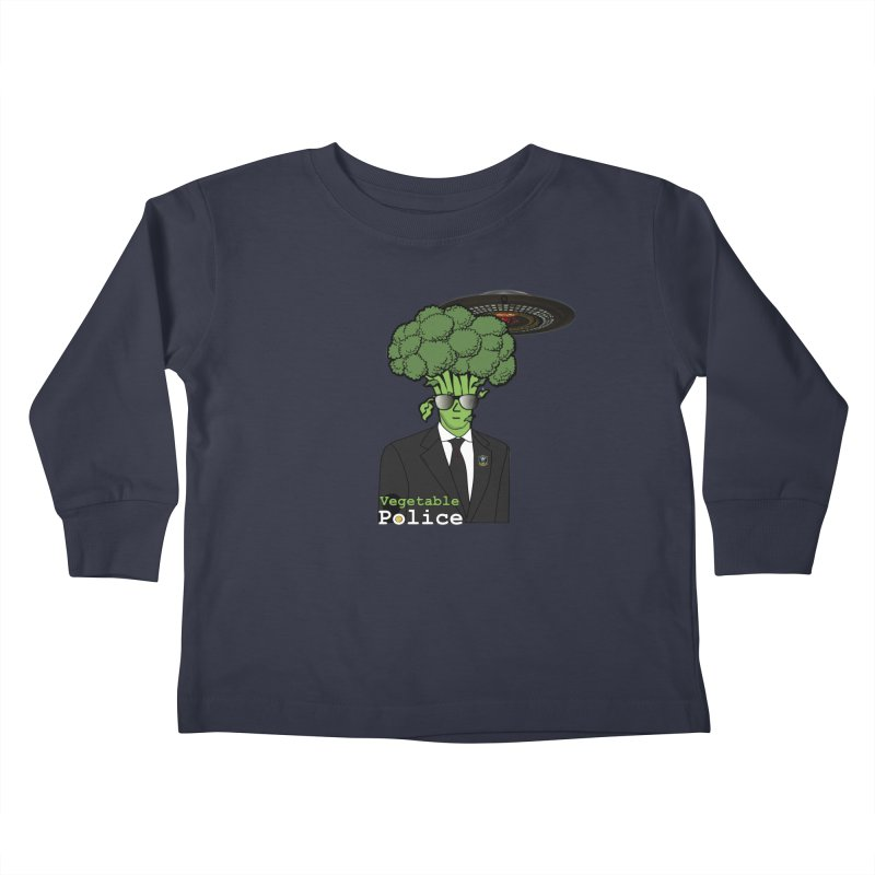 Vegetable Police (Broccoli Cop) Kids Toddler Longsleeve T-Shirt by Vegetable Conspiracies