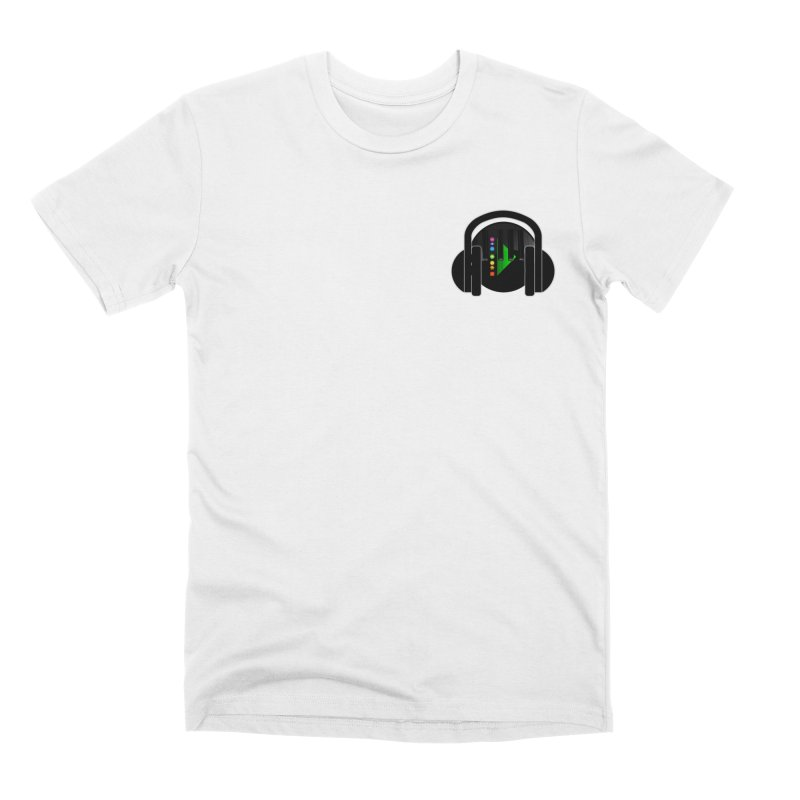 Stern Beats (Small Upper Left Corner) Men's T-Shirt by Vegetable Conspiracies