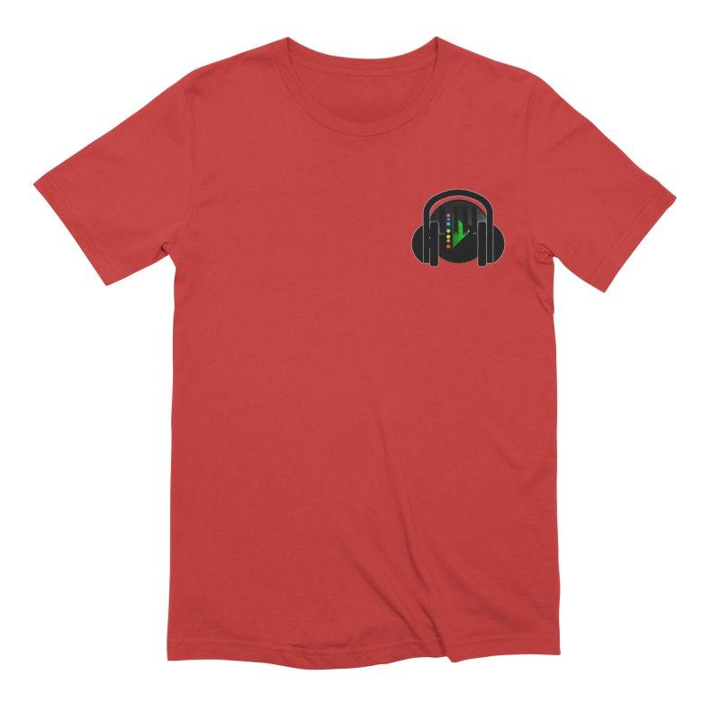 Stern Beats (Small Upper Left Corner) Men's T-Shirt by Vegetable Conspiracies